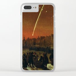 Comet above Rotterdam - Lieve Verschuier (1680) Clear iPhone Case