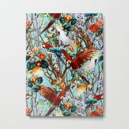 Floral and Birds XXX Metal Print