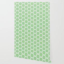 Mint Honeycomb Wallpaper