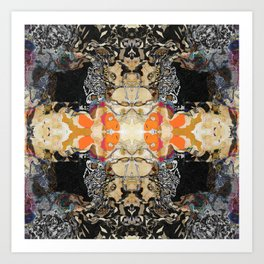 MANDALA Abstract Geometric Pattern Art by Michel Keck Art Print