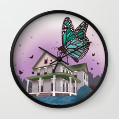 Butterfly House Wall Clock