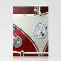 volkswagen Stationery Cards featuring Samba microbus hippiebus Volkswagen by Premium
