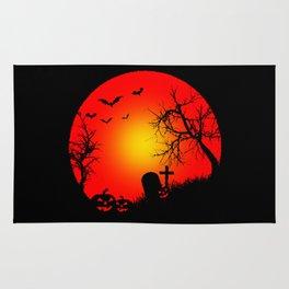 Nightmare Pumpkin Halloween Rug