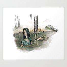 Lady of the bog Art Print