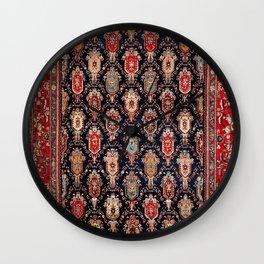 Bijar Northwest Persian Kurdish Rug Print Wall Clock