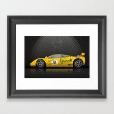 1995 McLaren F1 GTR Le Mans - Harrods Livery #06R  Framed Art Print