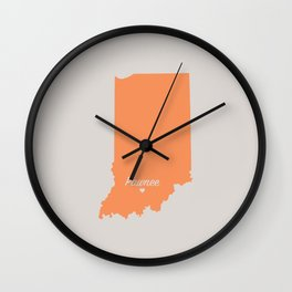 Pawnee, Indiana Map Wall Clock
