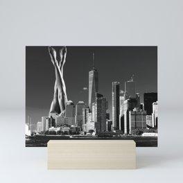 Lennox & Leg Avenue - Collage Art - Sexy New York Manhattan NYC Mini Art Print