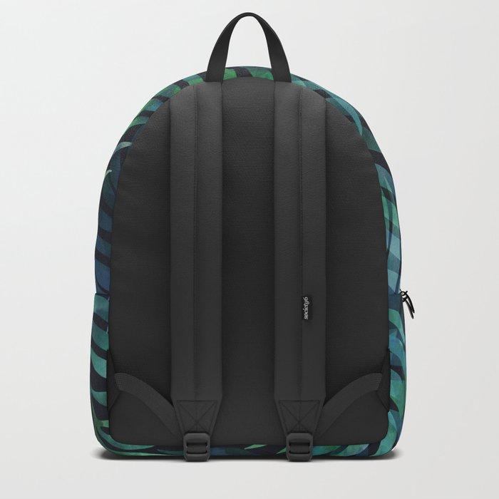 Dark green palms leaves pattern Backpack
