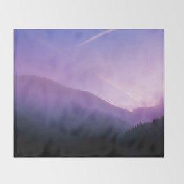 Morning Fog - Landscape Photography Throw Blanket