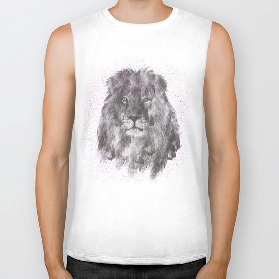 Lion Just Wants to have Fun Biker Tank
