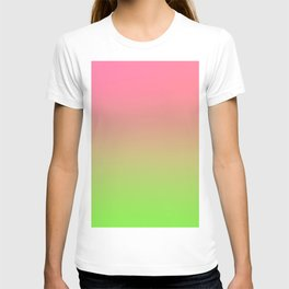 NEW ENERGY - Minimal Plain Soft Mood Color Blend Prints T-shirt