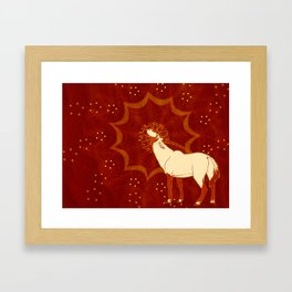 Sun Oryx Framed Art Print