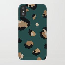 Teal Leopard Print iPhone Case