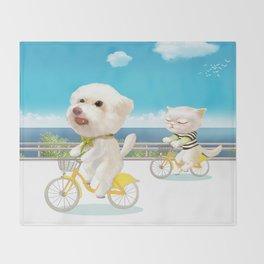 Biking Throw Blanket