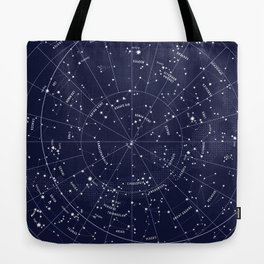 f7fdcfac089f Constellation Map Indigo Tote Bag