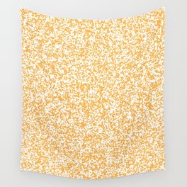 Tiny Spots - White and Pastel Orange Wall Tapestry