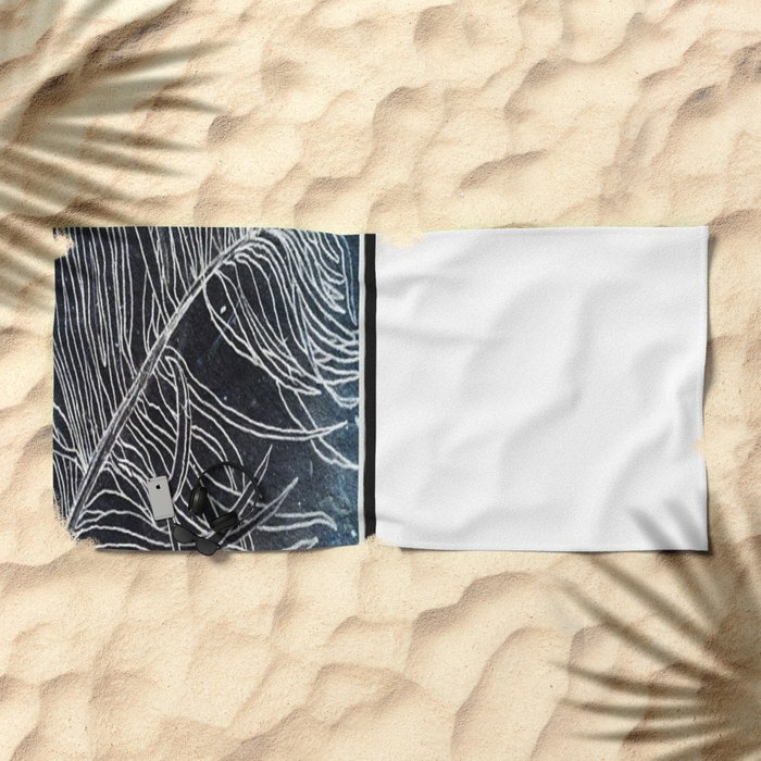 Palm Leaf Earth Day and Easter Beach Towel