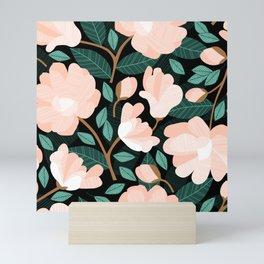 Peachy Magnolias Mini Art Print