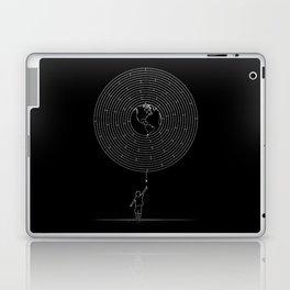 I Dream To Explore The World (Black) Laptop & iPad Skin