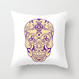 a0e098aaf Mexican Skull With Triskele and Celtic Cross Tattoo Throw Pillow