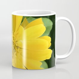 Lucious Yellow Zinnia Flower With Lush Leaves Coffee Mug