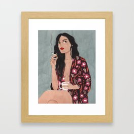 Coffe and cigarettes Framed Art Print