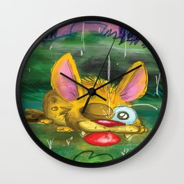 Come in from the rain Wall Clock