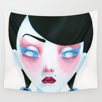vampire Wall Tapestries featuring Vampire Girl by Madelen Foss