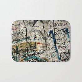 Berlin Wall Graffiti Bath Mat
