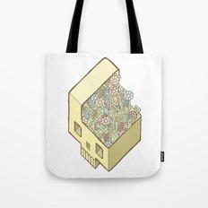 FlowerSkull Tote Bag