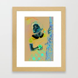 White Skin, Red Lips, and Poisoned Apples  Framed Art Print