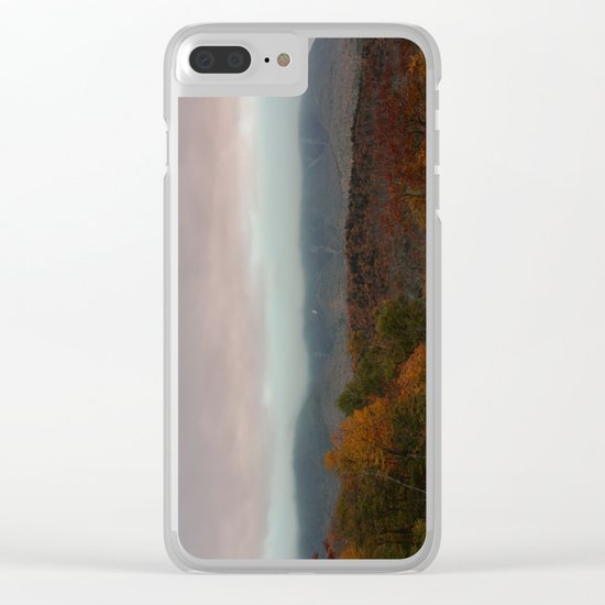 Fog Rolling Over The Hills Clear iPhone Case