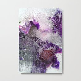 Frozen purple Metal Print