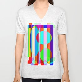 Re-Created Intersection VII by Robert S. Lee Unisex V-Neck
