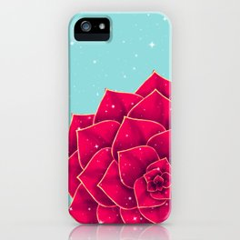 Big Holidays Christmas Red Echeveria Design iPhone Case