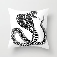 Doña Cobra Throw Pillow
