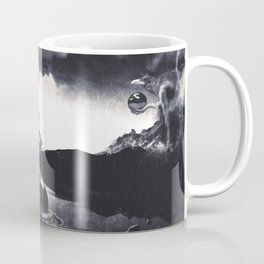 The Landing A Zebes Surrealism Coffee Mug