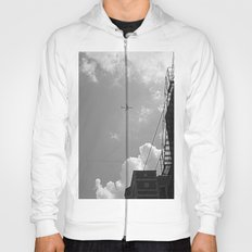 Leaving On A Jet Plane ~ black and white Hoody