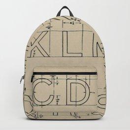 Vintage Block Font Backpack