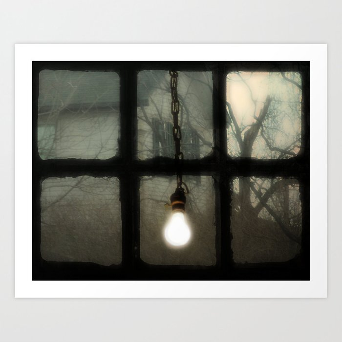 Light In The Window Art Print