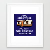 trailer park boys Framed Art Prints featuring trailer park  by Jersey&Pearl