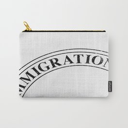 Immigration Stamp Carry-All Pouch