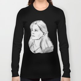 Abby Griffin's Portrait WHITE Long Sleeve T-shirt