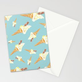 You Make Me Melt Ice Cream Print in Powder Blue Stationery Cards