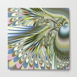 Abstract with feather patterns Metal Print