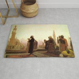 Islamic Masterpiece 'Prayer in Cairo' by Jéan Leon Gerome Rug