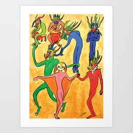 Vejigantes Art Print