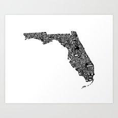 Typographic Florida Art Print