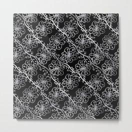Metallic Flowers Metal Print